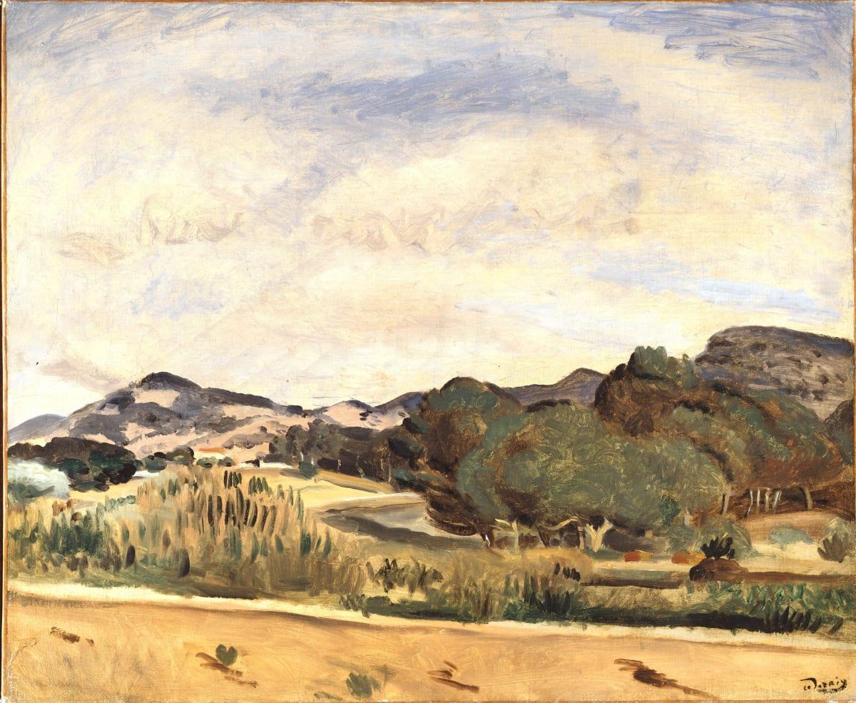 André Derain Vue de la Madrague, 1922 Oil on canvas 45.6 x 54.9 cm 18 x 21 5/8 inches Signed lower right