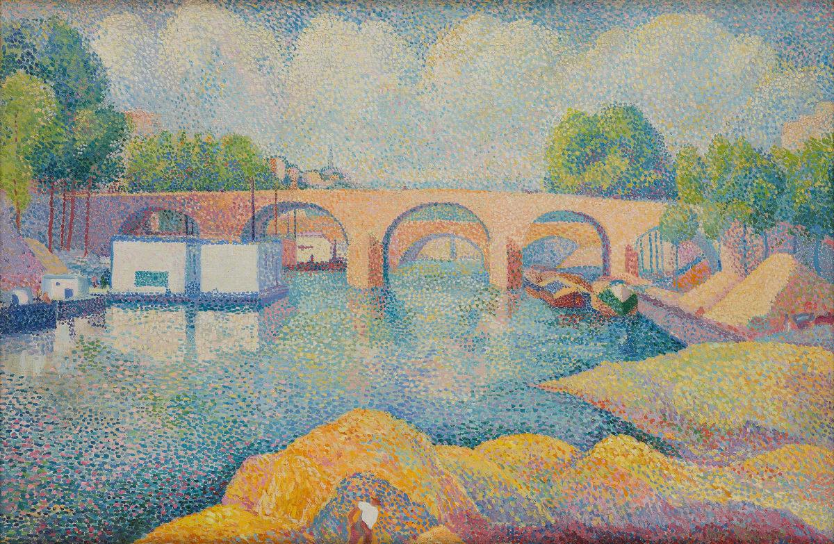 Hippolyte Petitjean, Un pont à Paris, c.1890