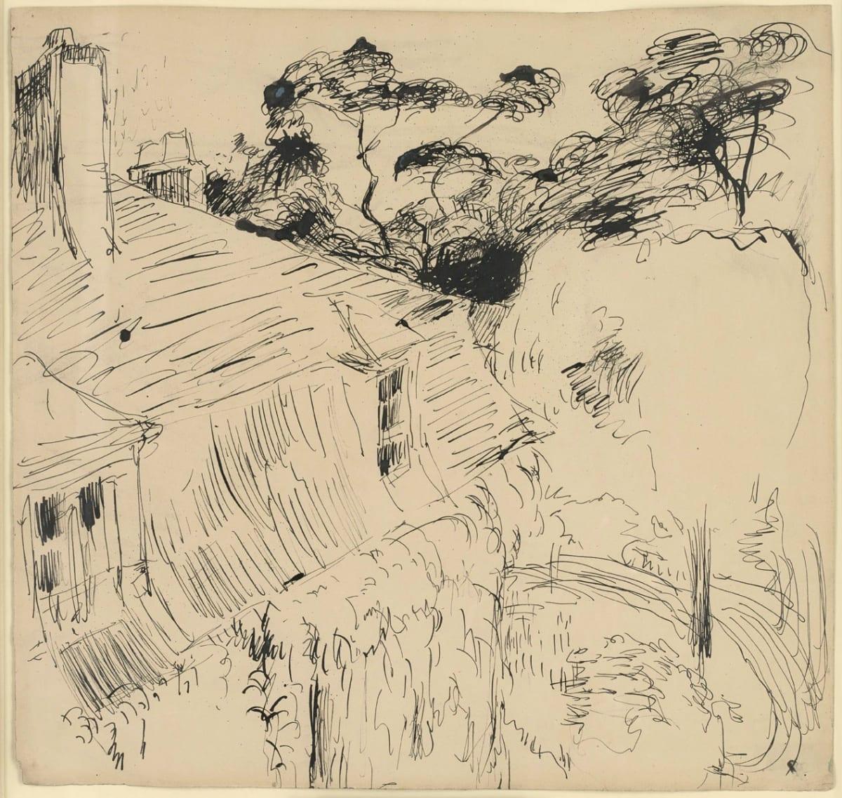 André Derain Une maison à Chatou, c. 1900 Pen and ink 35.5 x 37.5 cm 14 x 14¾ inches