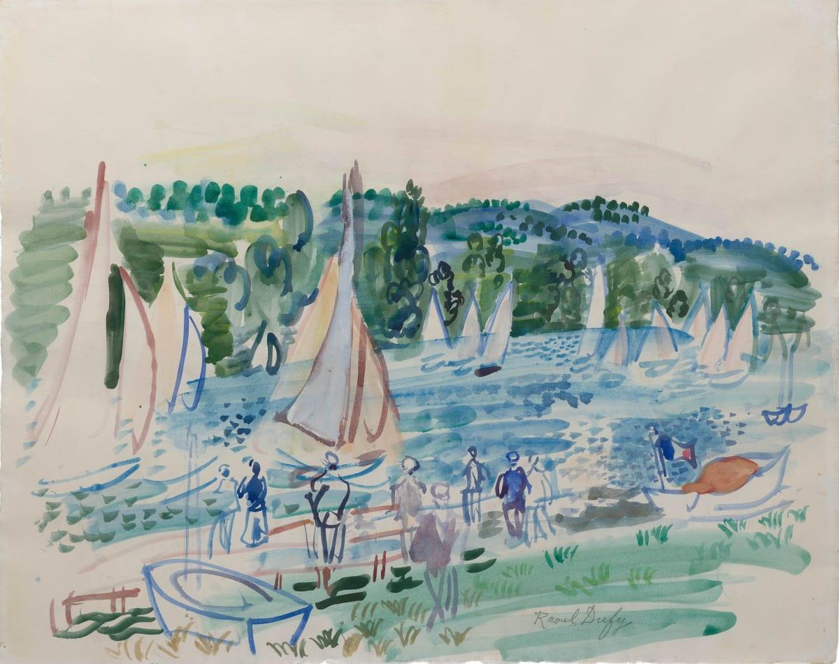 Raoul Dufy, Régates sur le fleuve, 1932