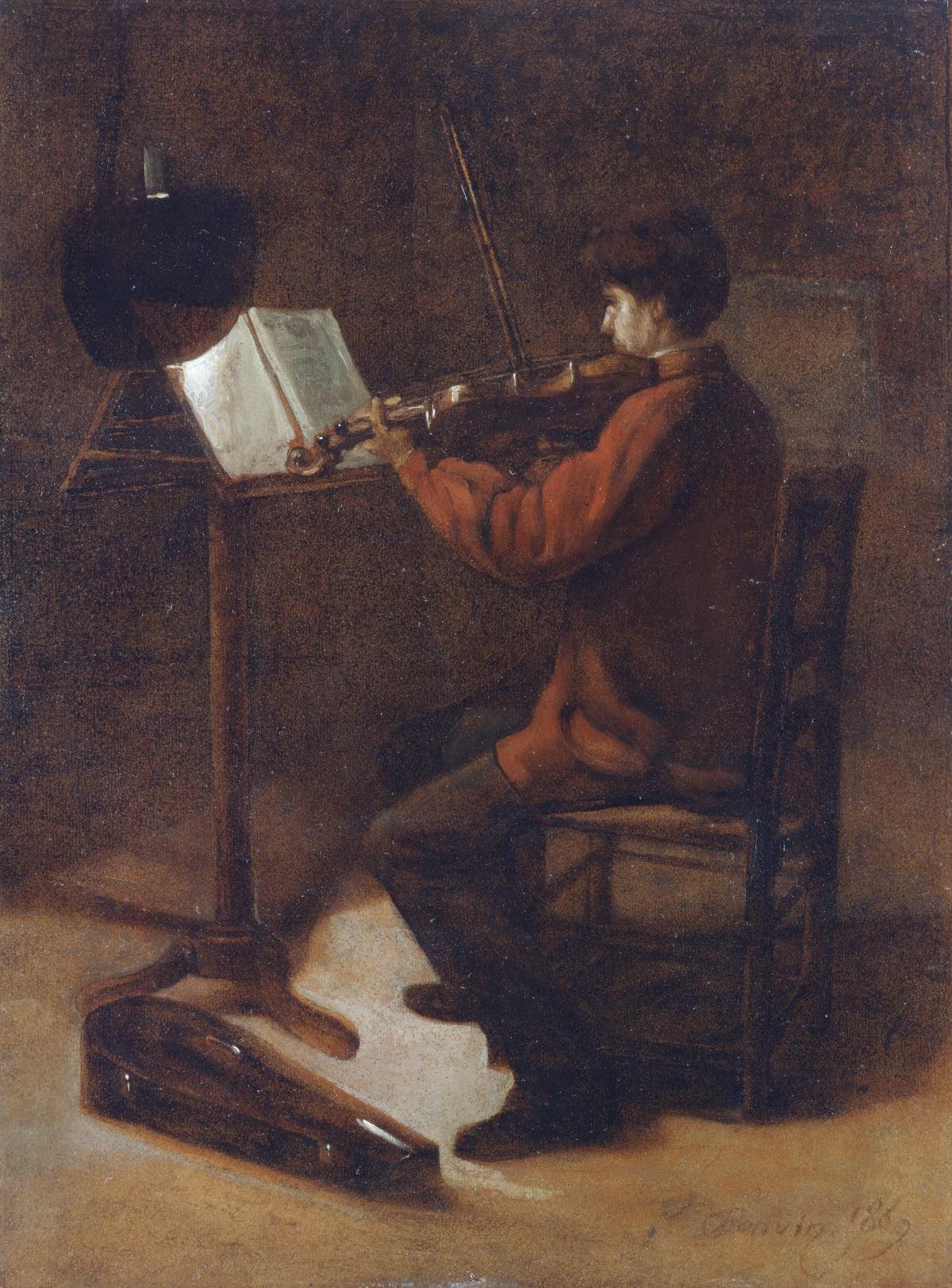 François Bonvin, Le violoniste, 1869