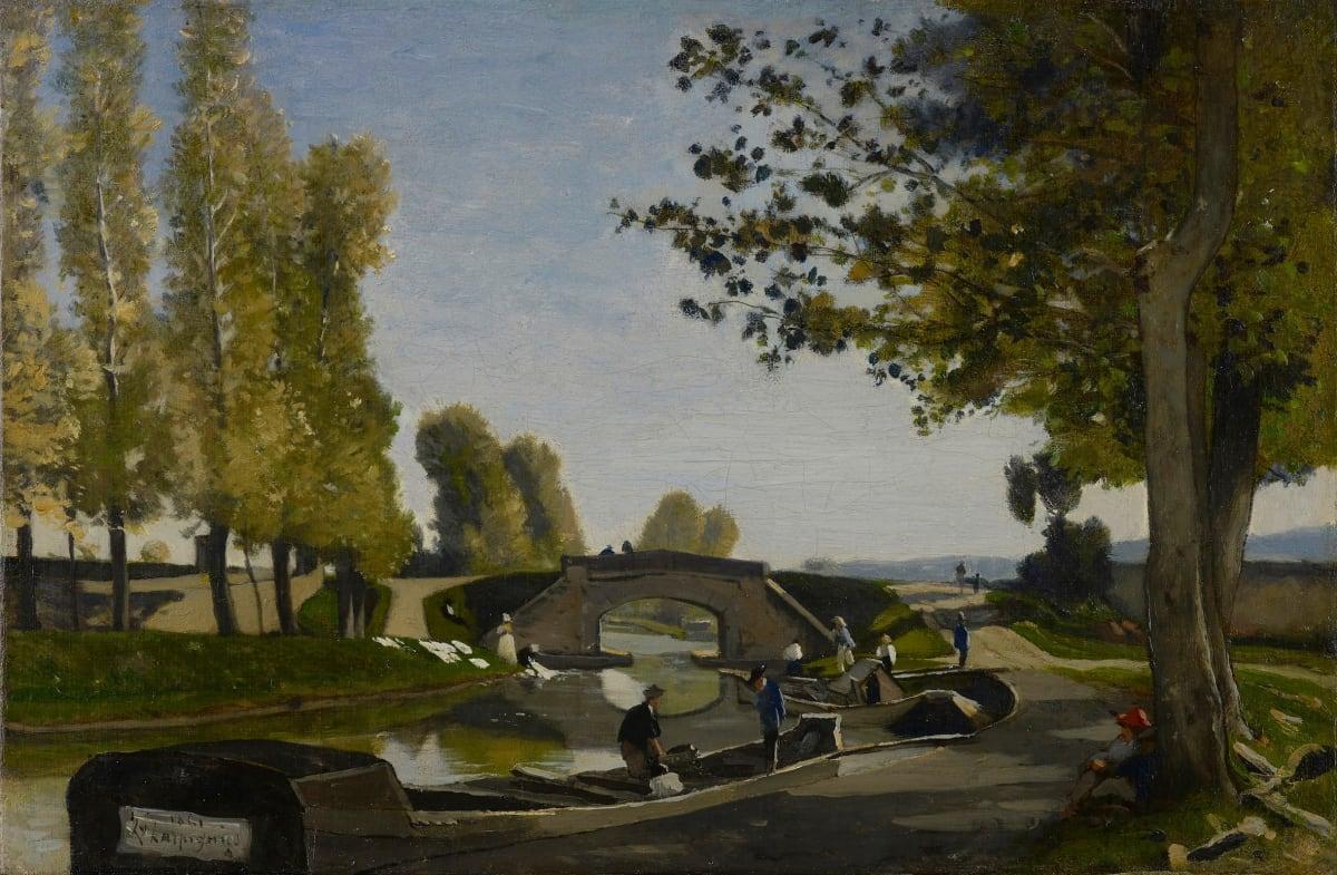 Henri Joseph Harpignies, Les bords du Canal, 1861