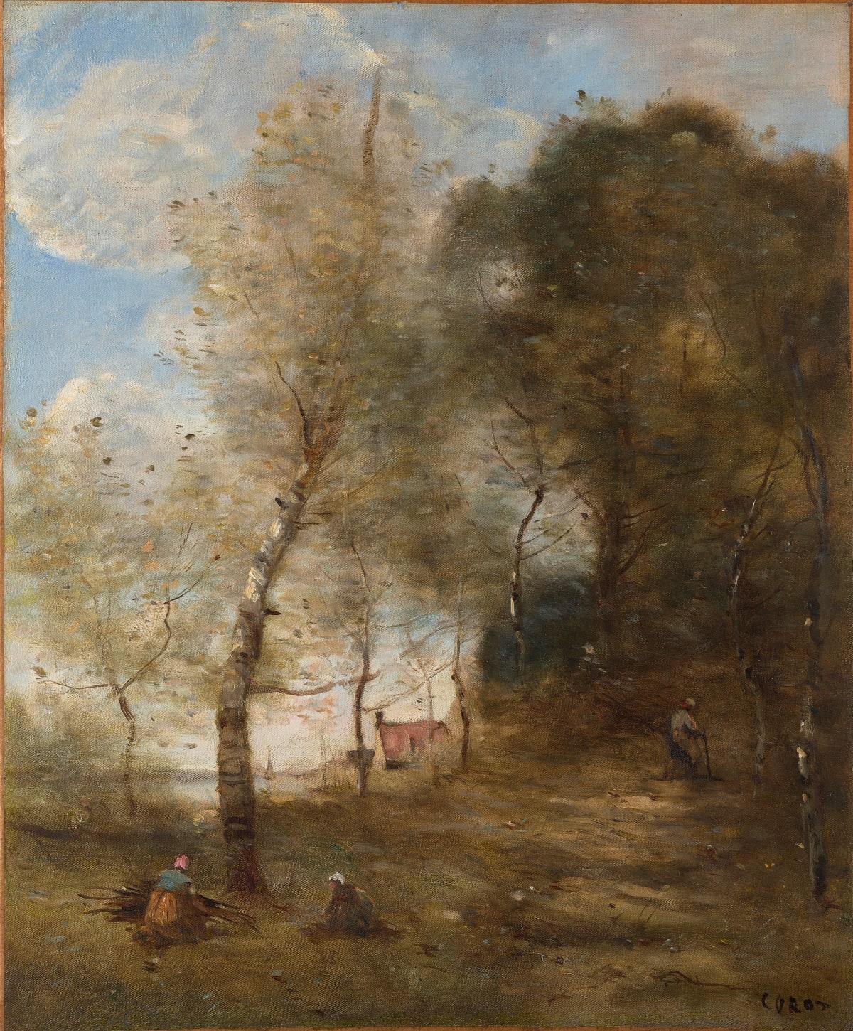 Jean Baptiste Camille Corot, Le Chemin montant sous les arbres à Ville-d'Avray