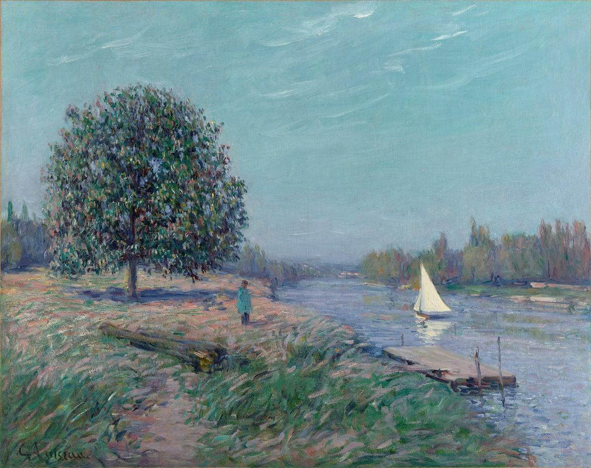 Gustave Loiseau, Voilier sur la rivière, c.1910