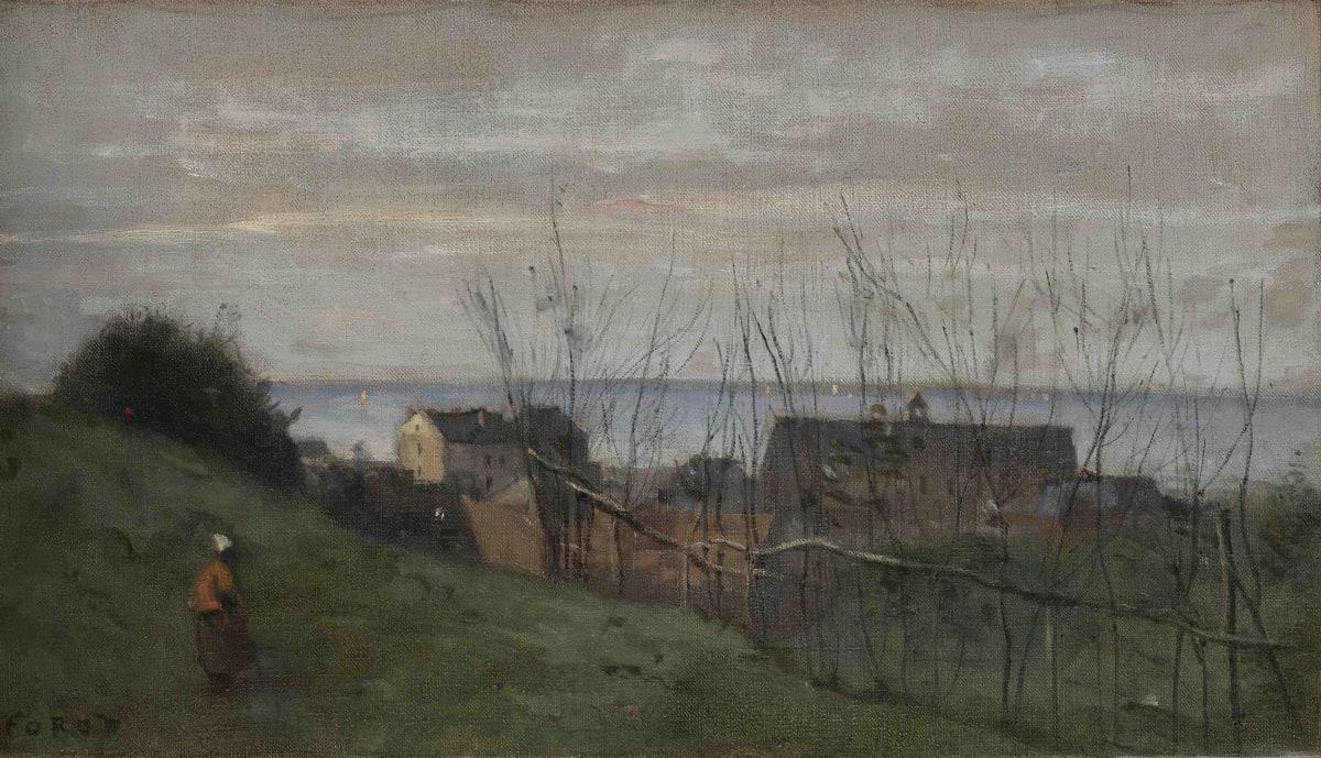 Jean Baptiste Camille Corot, Le Tréport, maison dominant la mer, ca.1855-1860