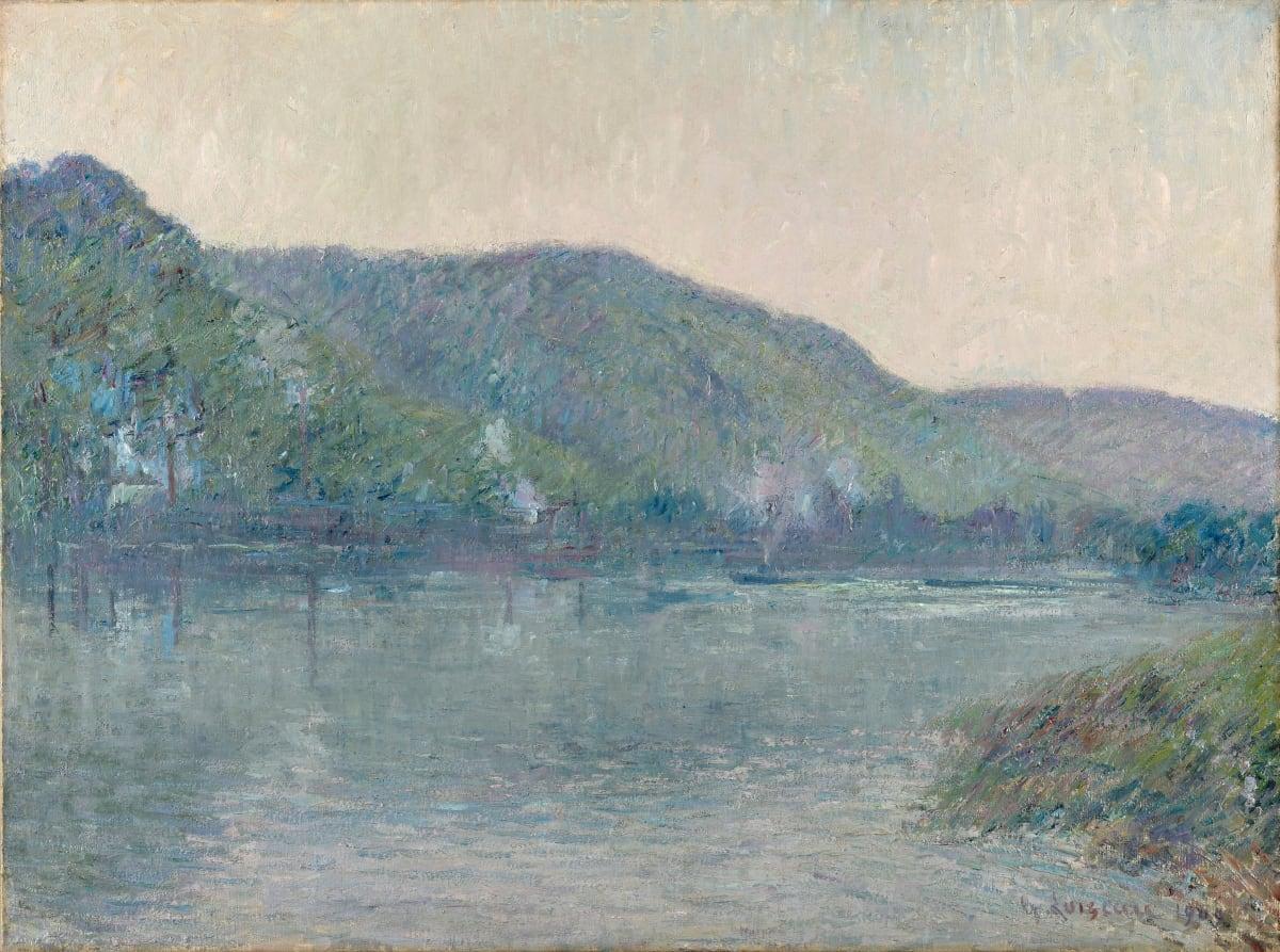 Gustave Loiseau, Bateaux sur la Seine à Oissel, 1909