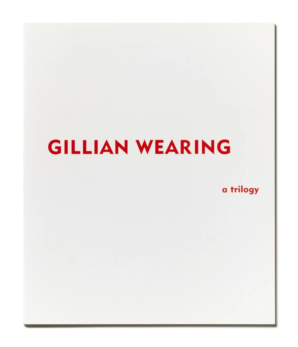 cover of Gillian Wearing: A Trilogy exhibition catalogue