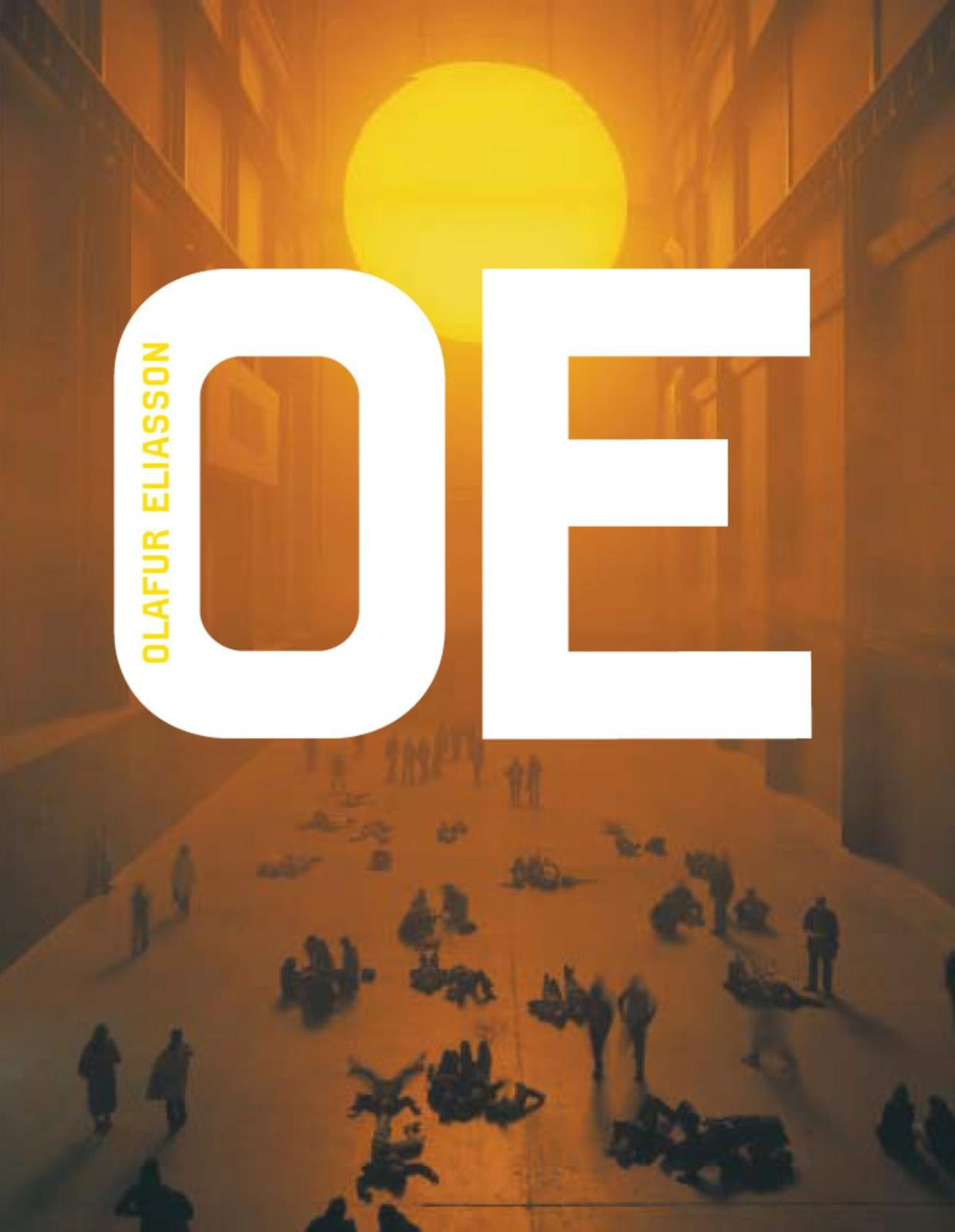 Cover of Olafur Eliasson monograph book featuring The Weather Project in Tate turbine hall