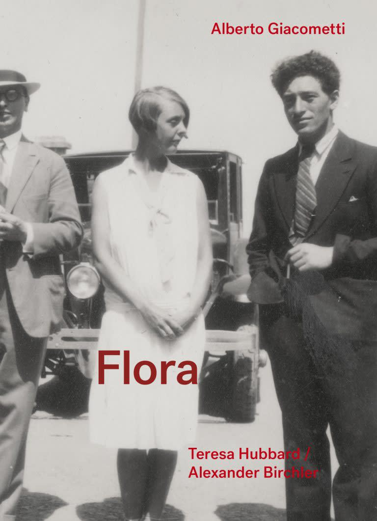 Cover of Albert Giacommeti / Flora book featuring black and white photo