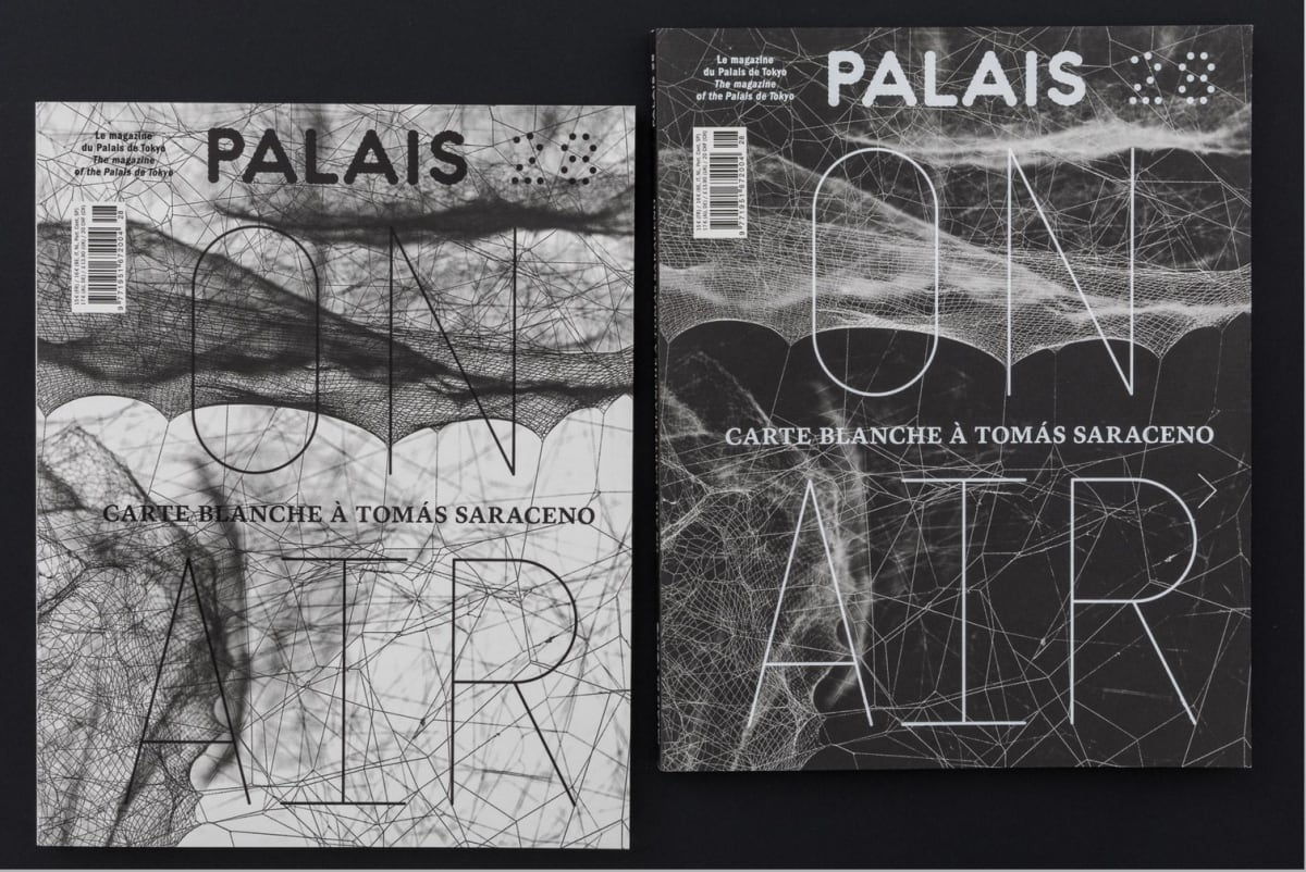covers of Palais de Tokyo magazine - On Air in black and white
