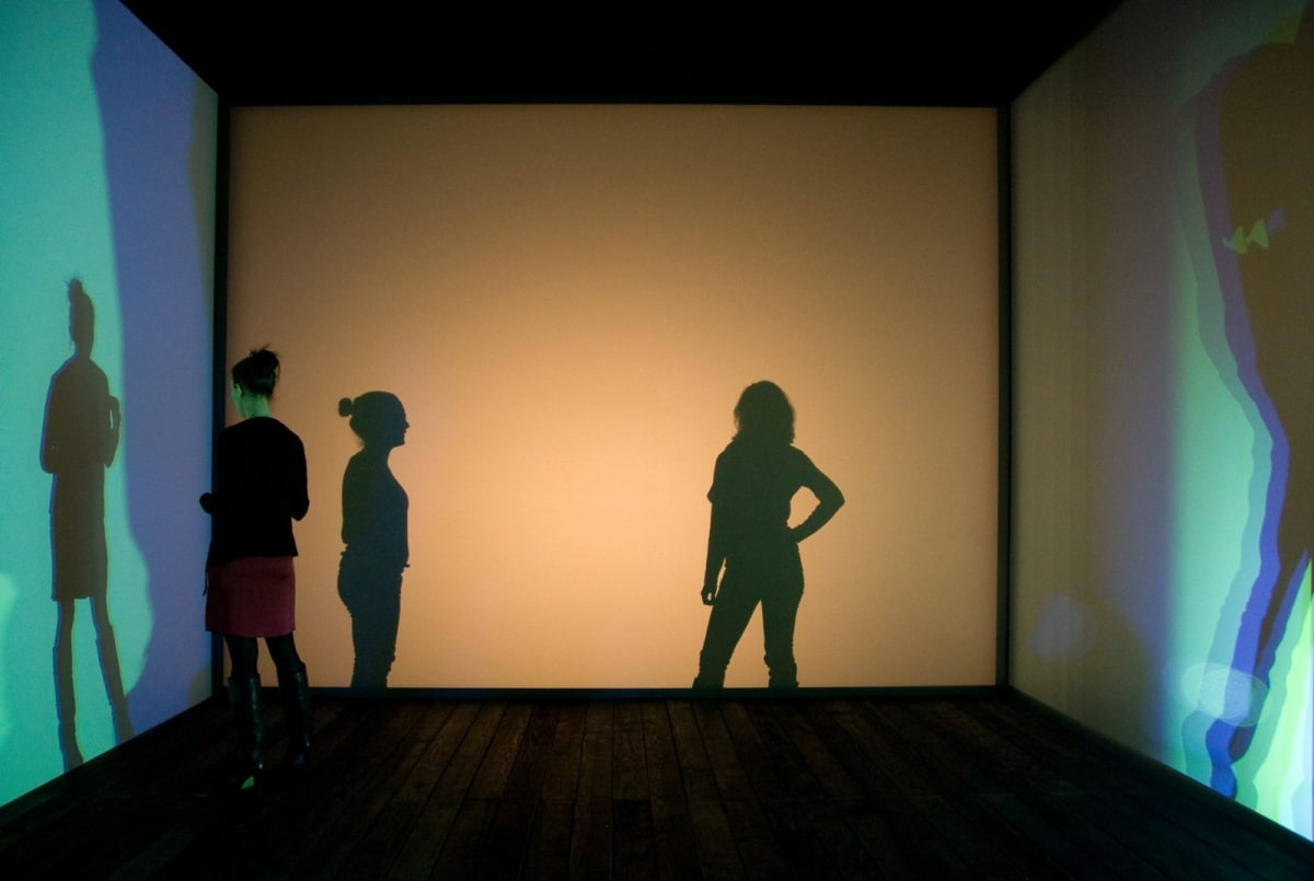 Image of Olafur Eliasson's Multiple-shadow-house installation work.