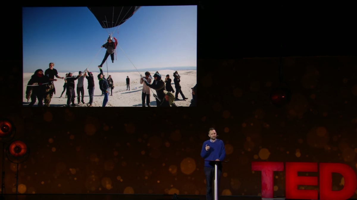 Saraceno at TED Talk