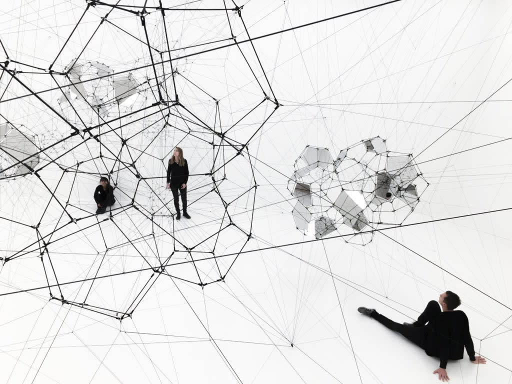 Saraceno installation image at SFMOMA 2016