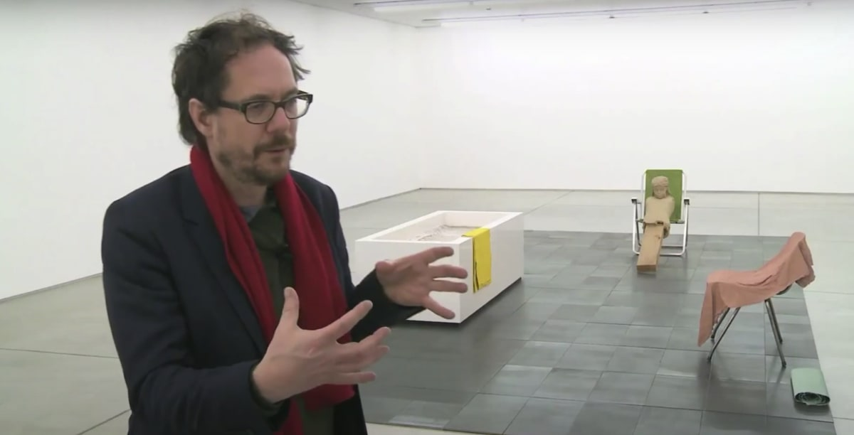 Mark Manders interview snapshot.