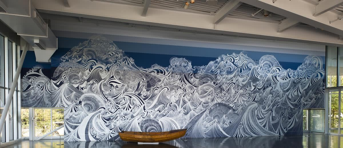 Installation image of Sandra Cinto's work.