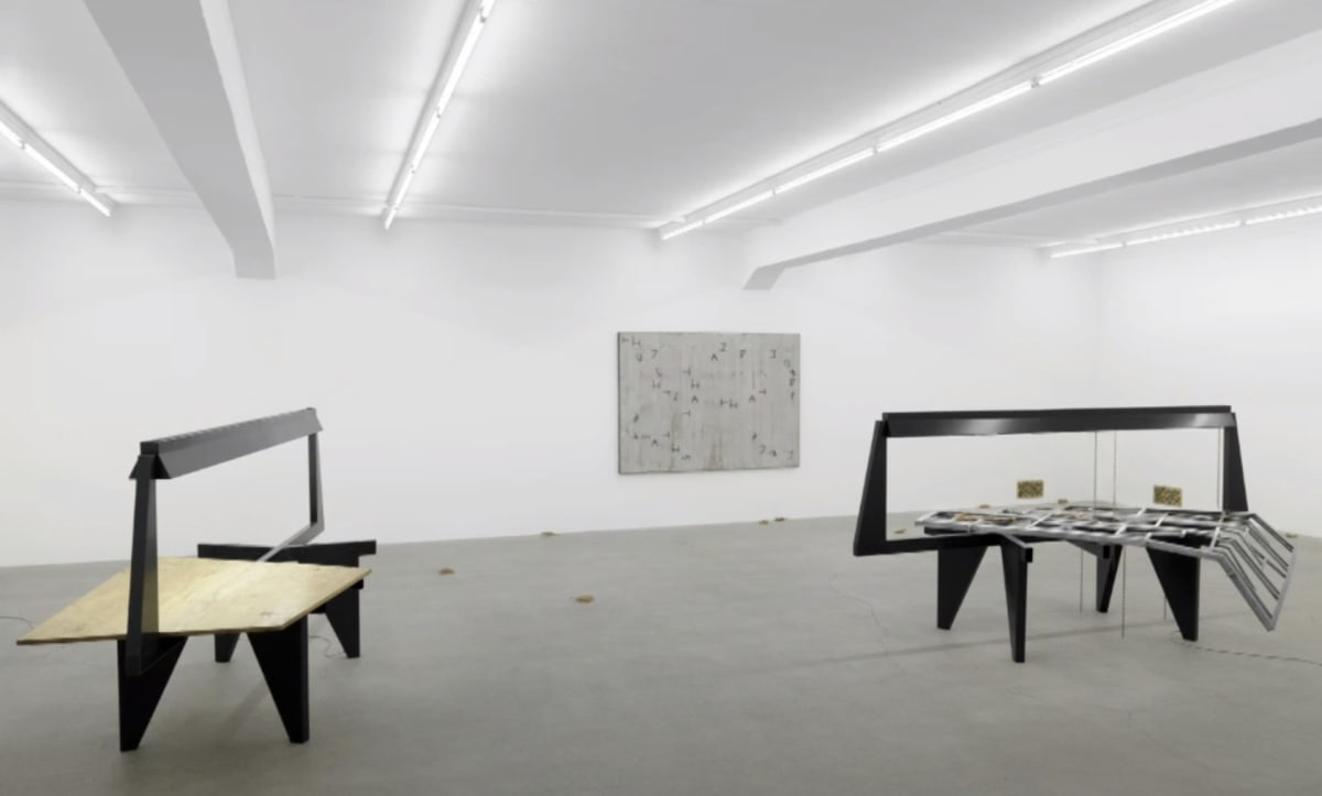 Installation of view of Martin Boyce's exhibition.