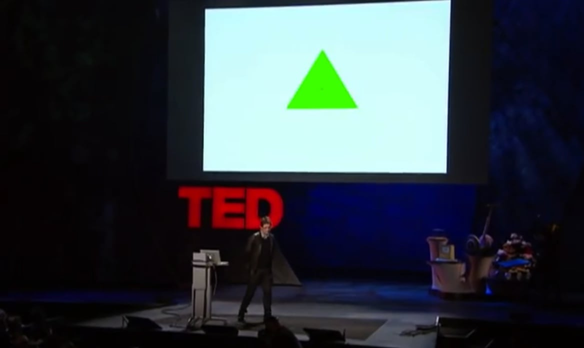 Olafur Eliasson's TED talk snapshot.