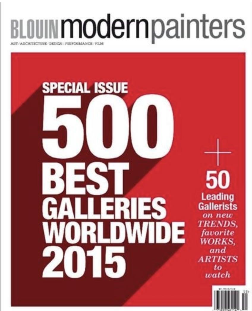 July 2016 - BLOUIN MODERN PAINTER'S 500 BEST GALLERIES WORLDWIDE 2016