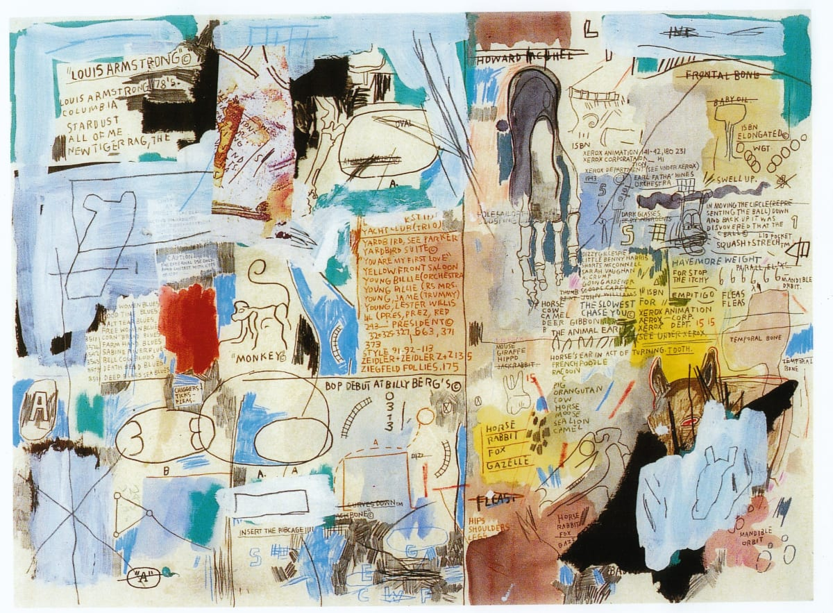 Jean-Michel Basquiat Untitled (Louis Armstrong), 1985 Mixed Media on Paper 56 x 76 cm