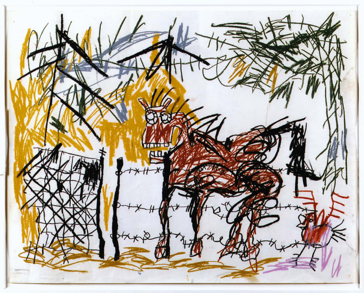 Jean-Michel Basquiat Untitled , 1981 Crayon on Paper 45.1 x 57.2 cm