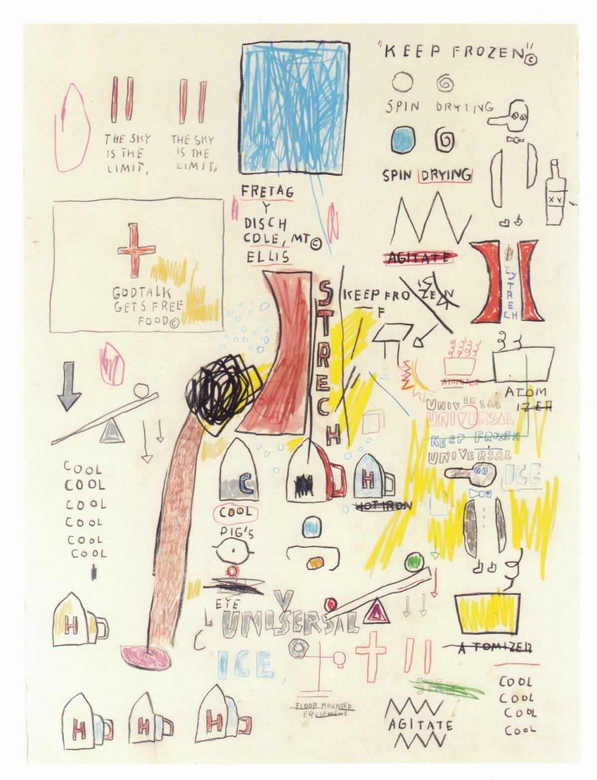 Jean-Michel Basquiat Untitled , 1987 Wax crayon, color crayon & pencil on paper 76.5 x 56.5 cm