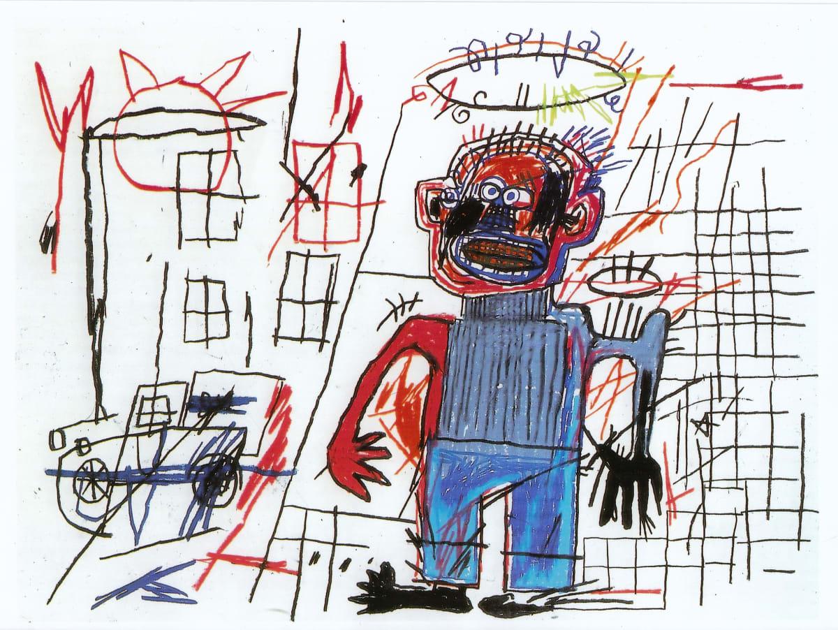 Jean-Michel Basquiat Warrior, 1982 Oil Stick on Paper 63.5 x 76.2 cm