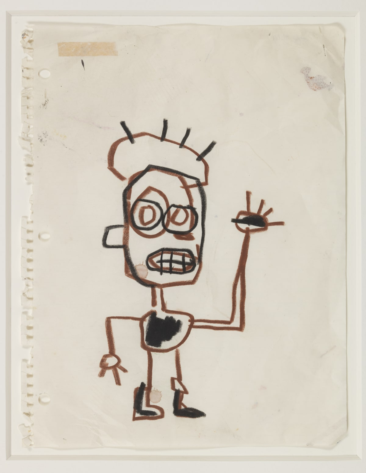 Jean-Michel Basquiat Untitled (3 drawings), 1982 Crayon on Notebook Paper 27.9 x 21.5cm
