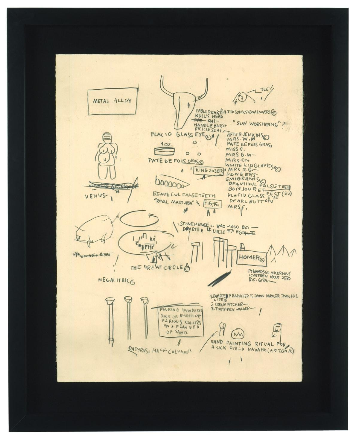 Jean-Michel Basquiat Untitled (Picasso), 1984 Graphite on Paper 76.2 x 57.1 cm