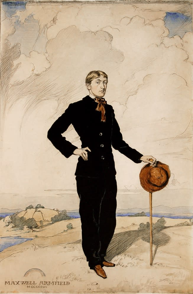 Maxwell Ashby Armfield, R.W.S. Portrait of the Artist as a Young Man Watercolor over pencil, 1906 17 x 11 inches SOLD