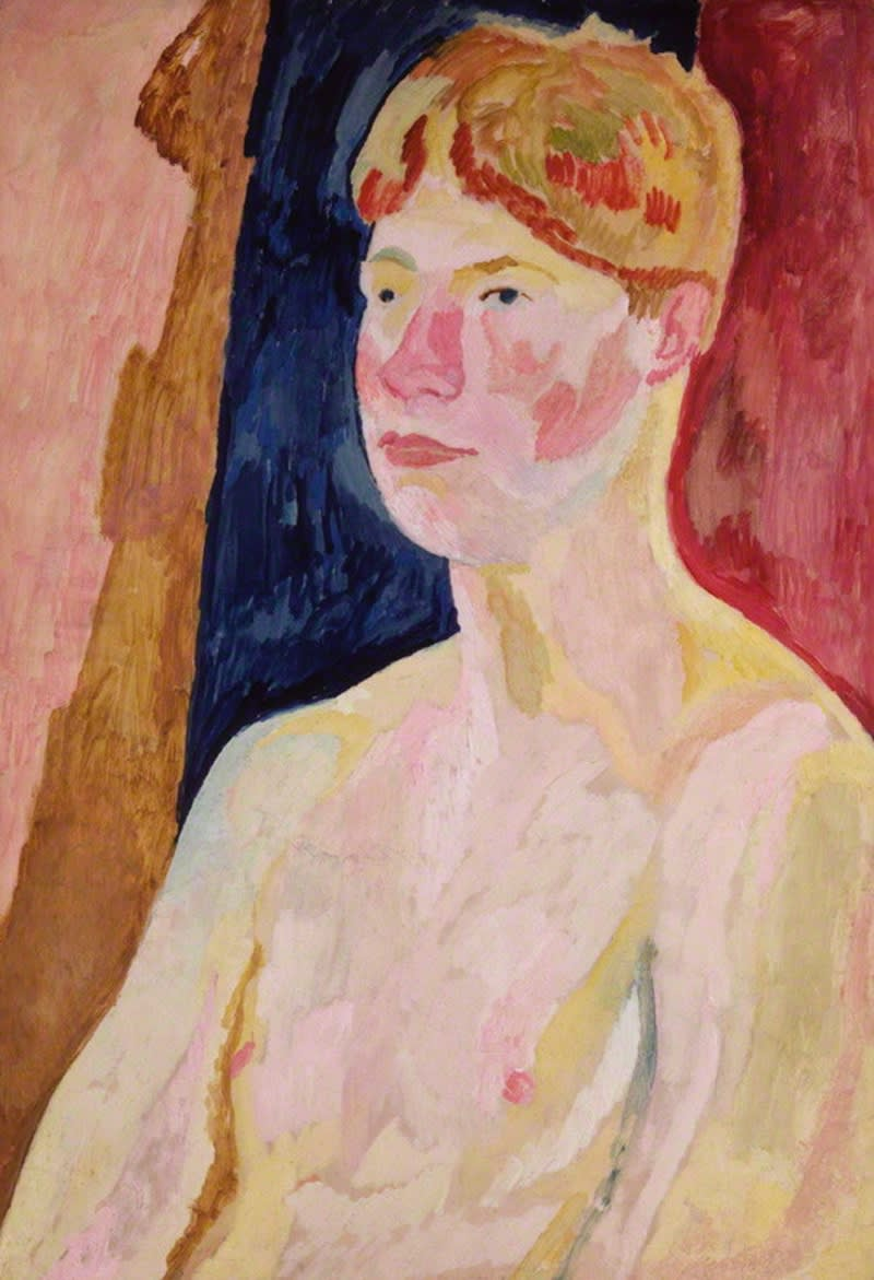 Vanessa Bell Portrait of David Garnett Oil on Board SOLD