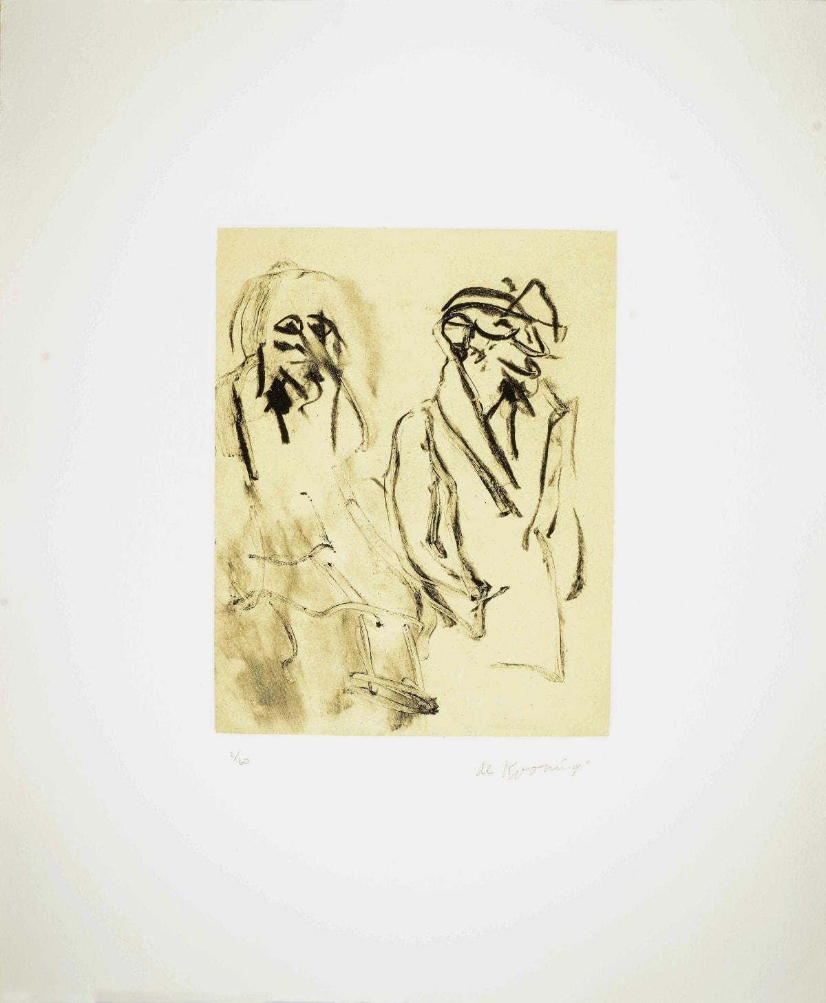 Willem de Kooning, Seventeen Lithographs for Frank O'Hara: Plate VII, 1988
