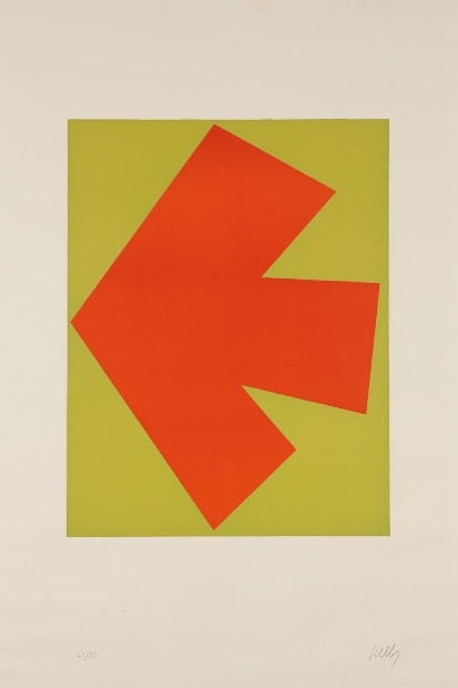 Ellsworth Kelly, Orange over Green (Orange sur Vert), from the Suite of Twenty-Seven Color Lithographs, 1964