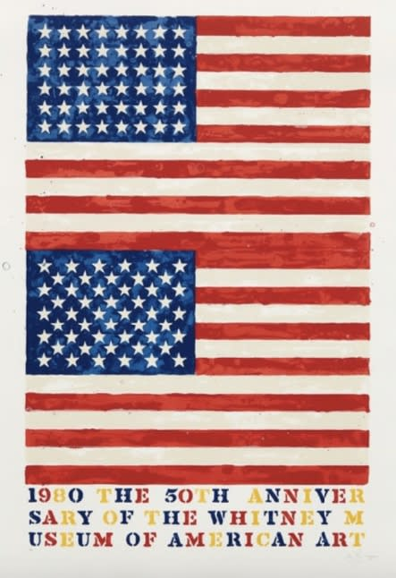 Jasper Johns, Two Flags (Whitney Anniversary), 1980