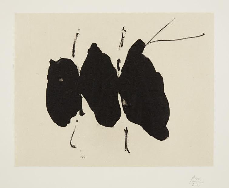Robert Motherwell, Octavio Paz Suite: Mexican Elegy, 1988