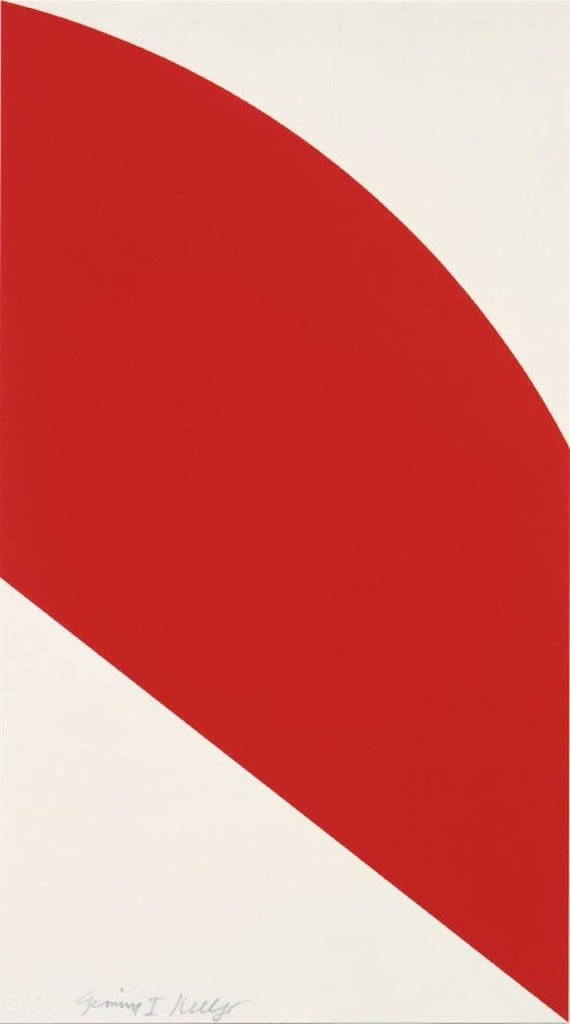 Ellsworth Kelly, Red Curve, 2006