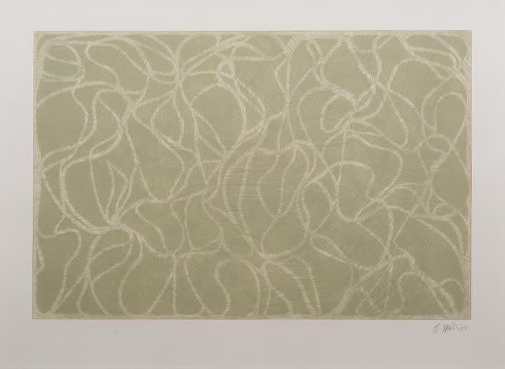 Brice Marden, Red Line Muses, 2001
