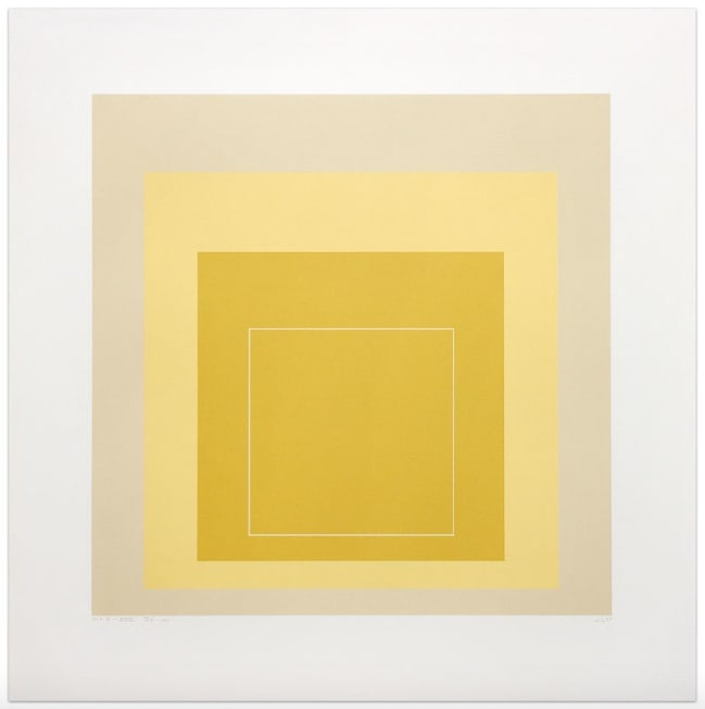 Josef Albers, White Line Square XVII, 1967