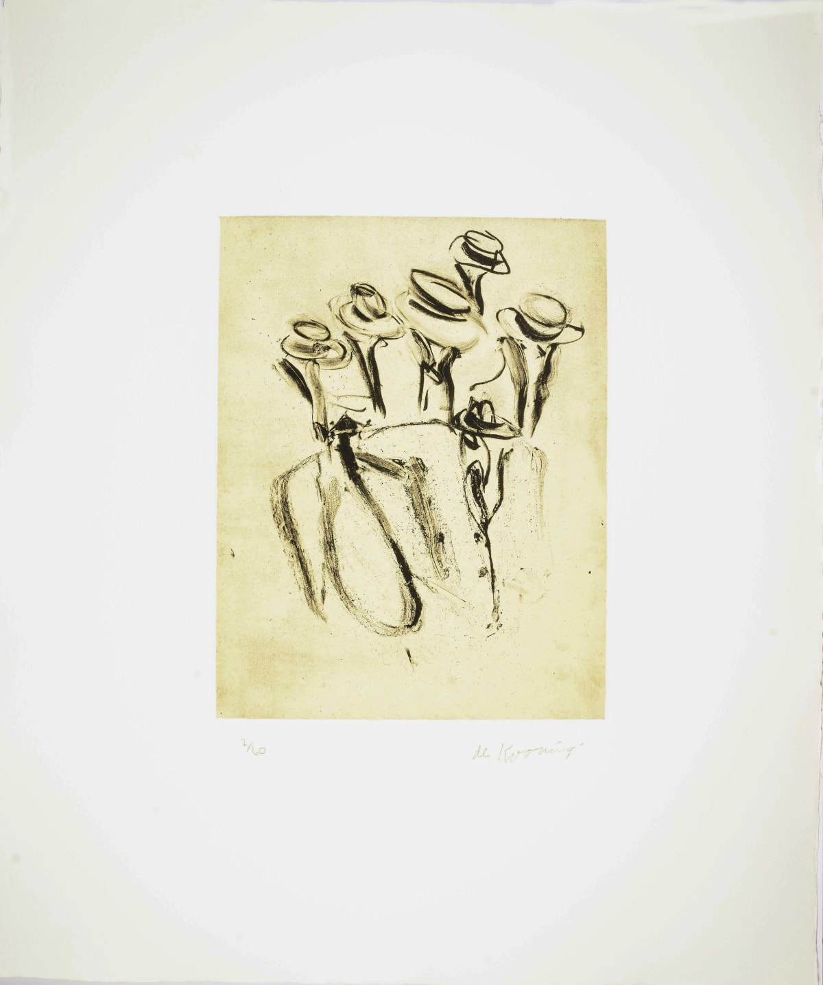 Willem de Kooning, Seventeen Lithographs for Frank O'Hara: Plate II, 1988
