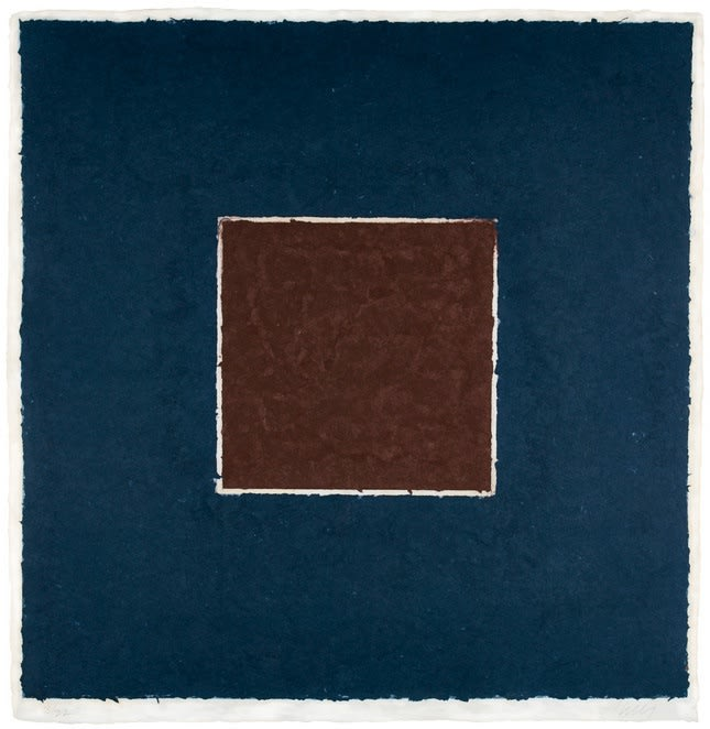 Ellsworth Kelly, Colored Paper Image XX (Brown Square with Blue), from Colored Paper Images, 1976