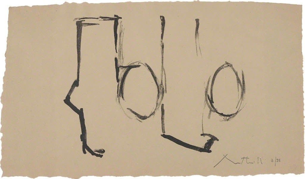 Robert Motherwell, Spanish Elegy I, 1975