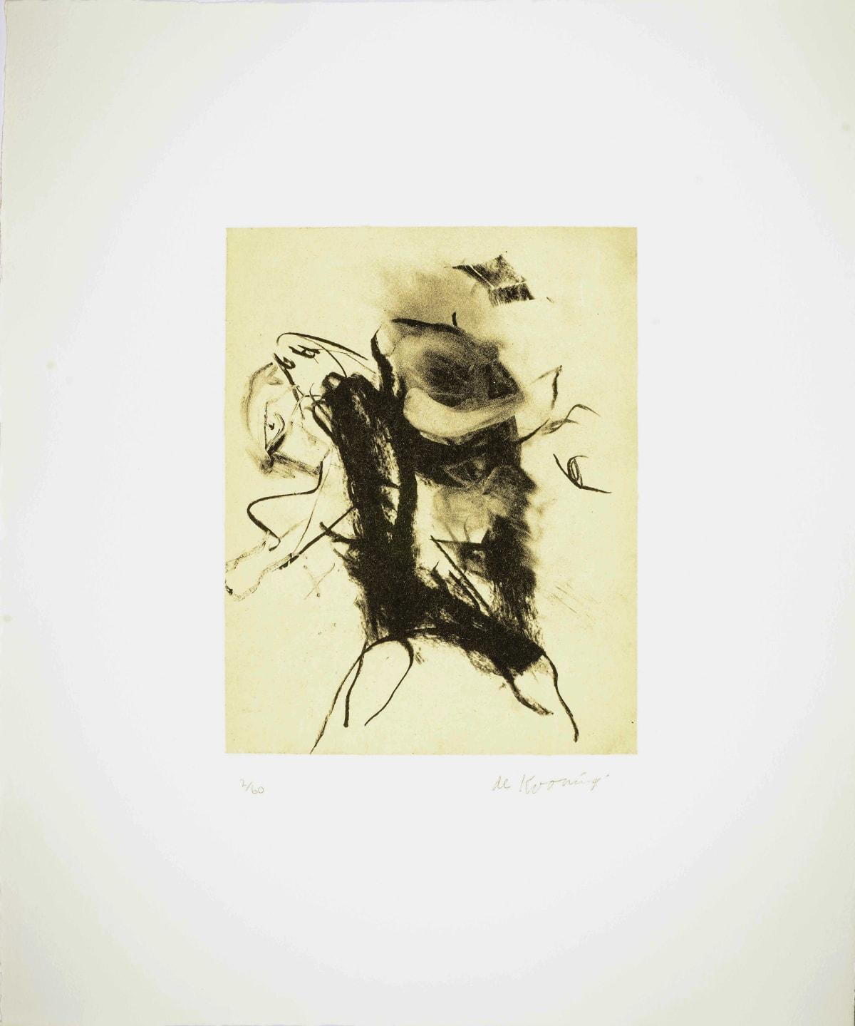 Willem de Kooning, Seventeen Lithographs for Frank O'Hara: Plate XIV, 1988
