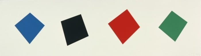 Ellsworth Kelly, Blue/Black/Red/Green, 2001