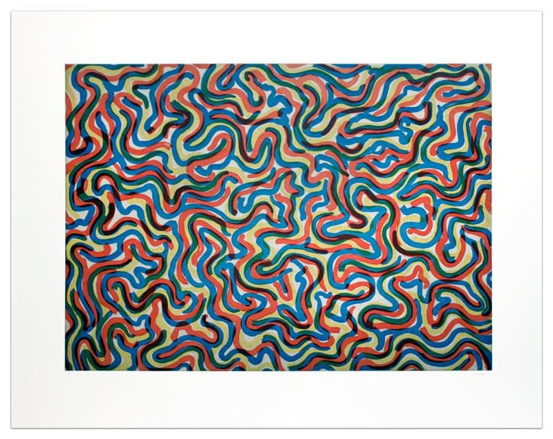 Sol LeWitt, Curvy Brushstrokes (Color), 1997
