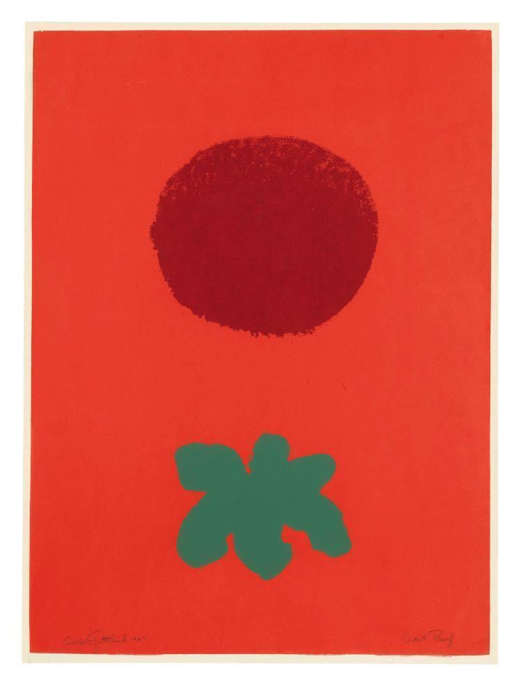 Adolph Gottlieb, Red Ground, 1967