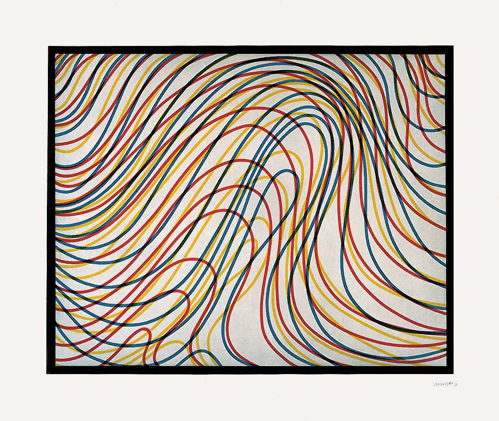 Sol LeWitt, Wavy Lines with Black Border, 1997