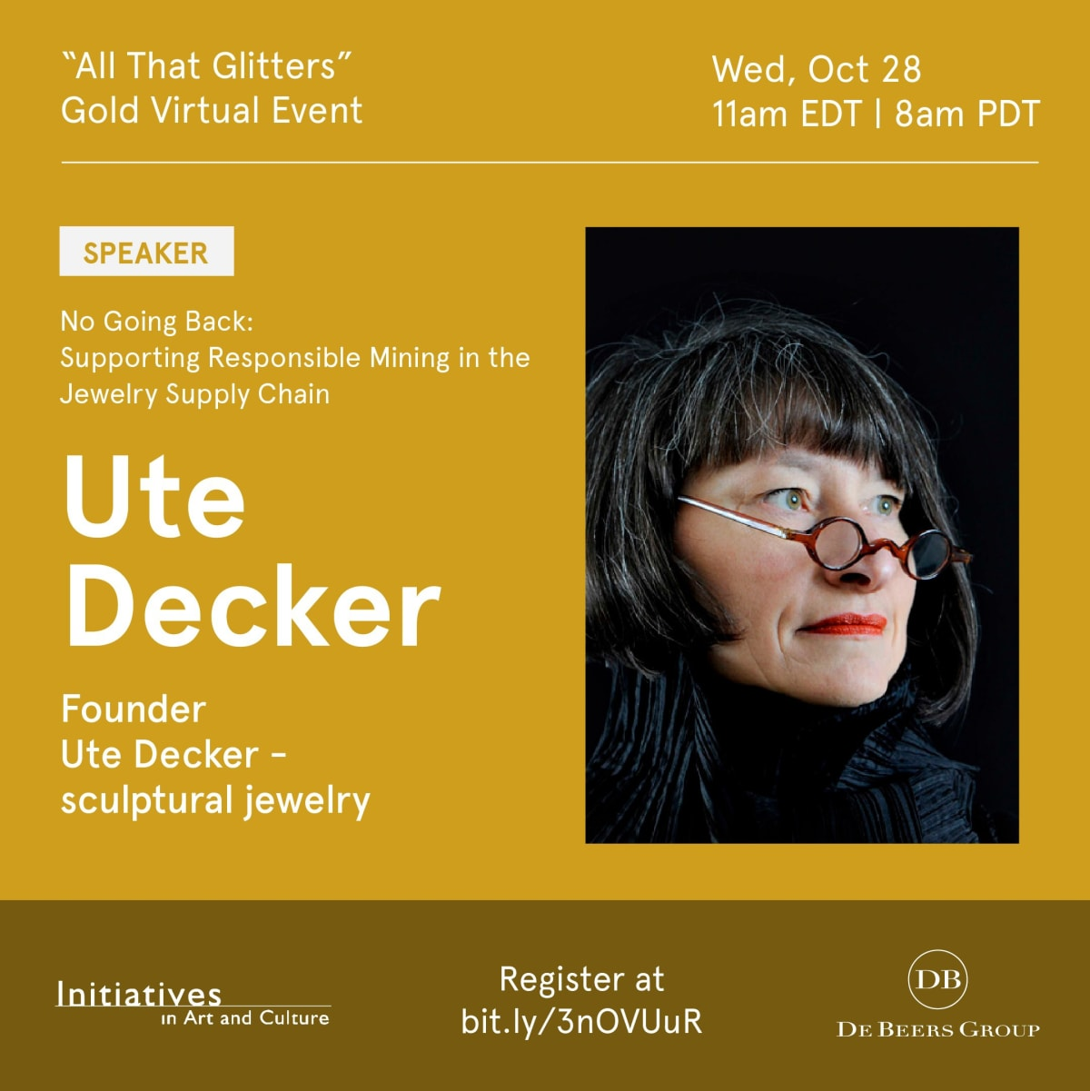 "Initiatives in Art and Culture's -  Gold Virtual conference, ""All That Glitters""."