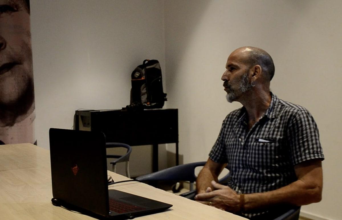 Rolando Vázquez en el Museo Nacional de Bellas Artes en Cuba