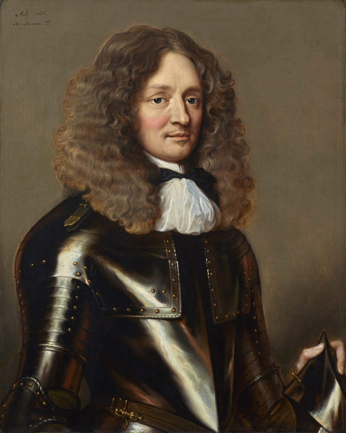 Adriaen Hanneman (1603 – 1671) An unknown Dutch officer, 1656 Oil on canvas 32 x 26 in. (81.3 x 66 cm.)