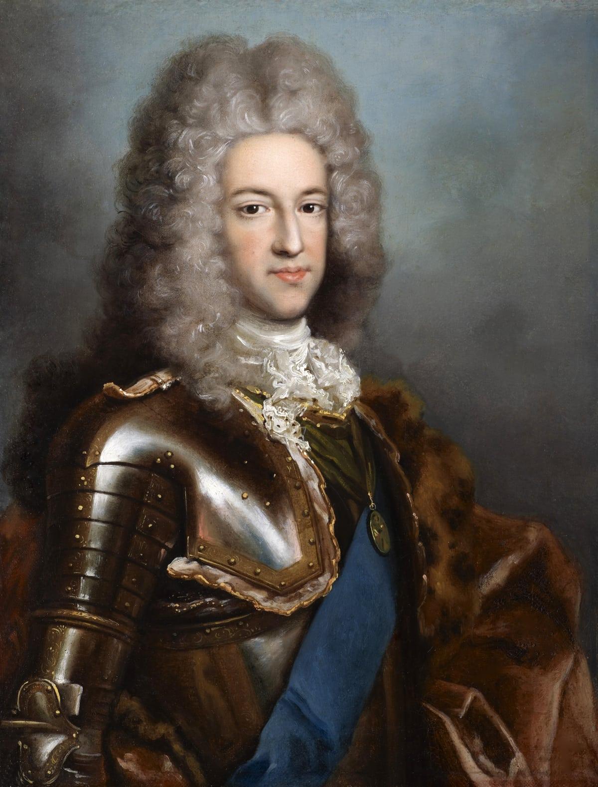 Antonio David (1684 – 1750) Prince James Edward Stuart, The Old Pretender (1688 – 1766), , circa 1717 - 1718 Oil on canvas 17 ¼ x 13 in. (44 x 33 cm.)
