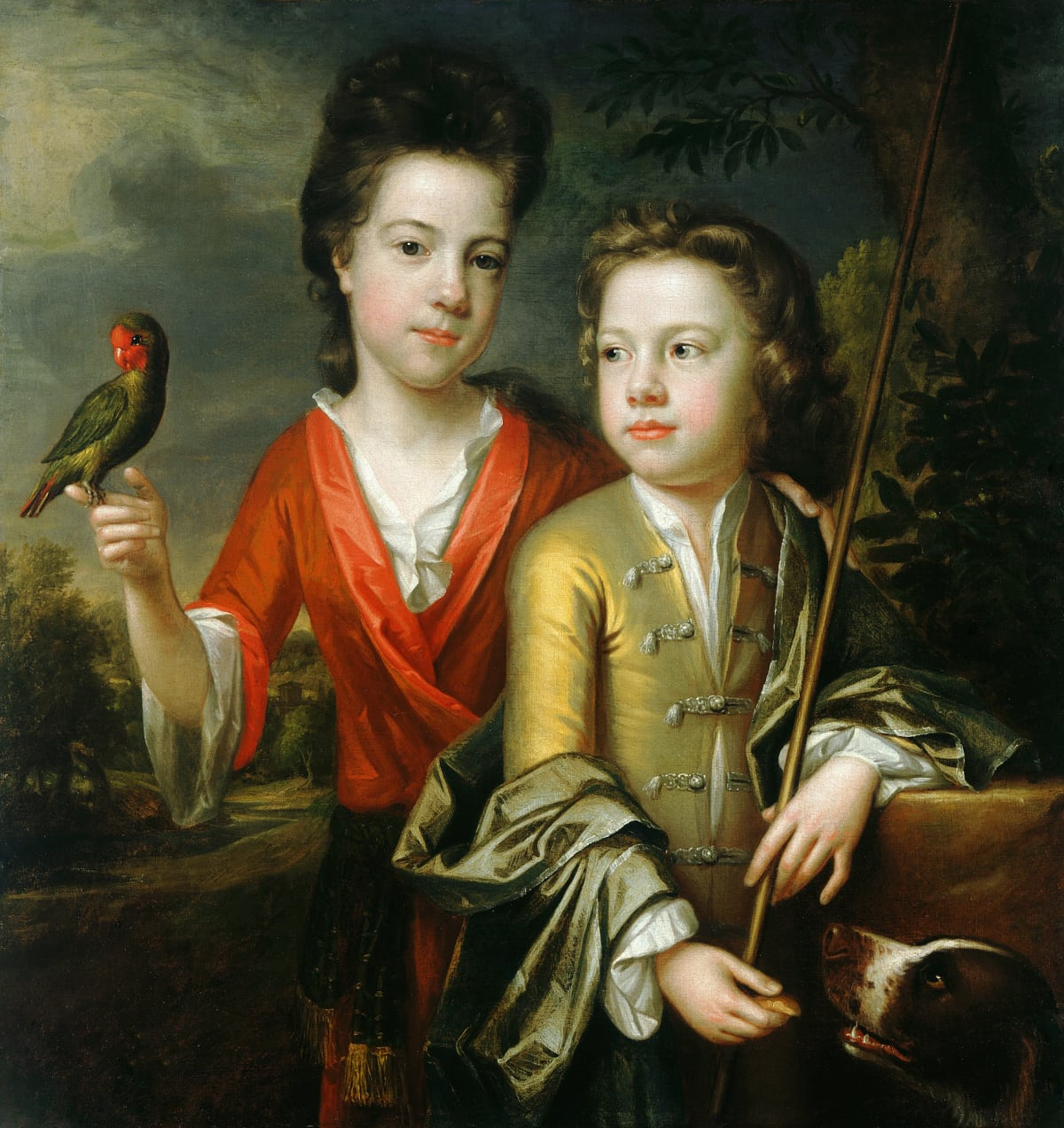 Johann Kerseboom (d. 1708) Two Children, thought to be Emily and Robert Cecil, circa 1690 Oil on canvas 29 ½ x 28 in. (74.5 x 71 cm.)
